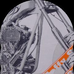 染込み網点プリント オレンジ+黒インク