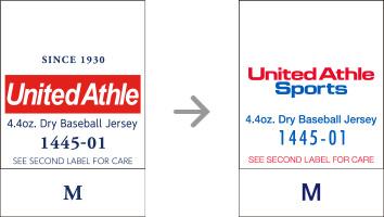 品番【1445-01】タグの変更|「ユナイテッドアスレ・オリジナル」ユナイテッドアスレ(United Athle)専門通販
