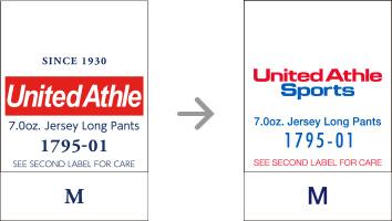 品番【1795-01】タグの変更|「ユナイテッドアスレ・オリジナル」ユナイテッドアスレ(United Athle)専門通販