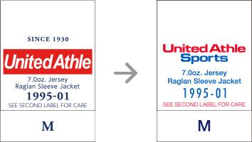 品番【1995-01】タグの変更|「ユナイテッドアスレ・オリジナル」ユナイテッドアスレ(United Athle)専門通販