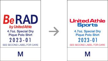 品番【2023-01】タグの変更|「ユナイテッドアスレ・オリジナル」ユナイテッドアスレ(United Athle)専門通販