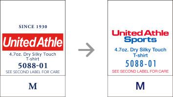 品番【5088-01】タグの変更|「ユナイテッドアスレ・オリジナル」ユナイテッドアスレ(United Athle)専門通販