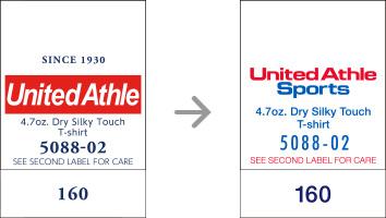 品番【5088-02】タグの変更|「ユナイテッドアスレ・オリジナル」ユナイテッドアスレ(United Athle)専門通販