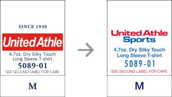 品番【5089-01】タグの変更|「ユナイテッドアスレ・オリジナル」ユナイテッドアスレ(United Athle)専門通販