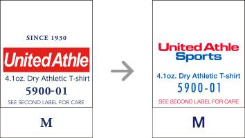 品番【5900-01】タグの変更|「ユナイテッドアスレ・オリジナル」ユナイテッドアスレ(United Athle)専門通販
