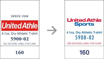 品番【5900-02】タグの変更|「ユナイテッドアスレ・オリジナル」ユナイテッドアスレ(United Athle)専門通販