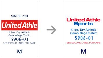 品番【5906-01】タグの変更|「ユナイテッドアスレ・オリジナル」ユナイテッドアスレ(United Athle)専門通販