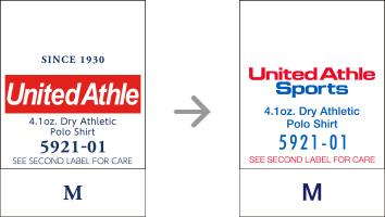 品番【5921-01】タグの変更|「ユナイテッドアスレ・オリジナル」ユナイテッドアスレ(United Athle)専門通販